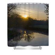 Skippack Creek Sunrise Shower Curtain