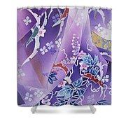 Skiyu Purple Robe Crop Shower Curtain