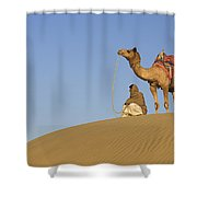 Skn 0960 Having A Distant View Shower Curtain