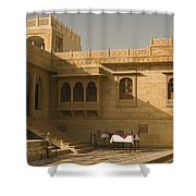 Skn 1322 Palatial Architecture Shower Curtain