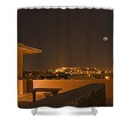 Skn 1348 Golden Illumination Shower Curtain