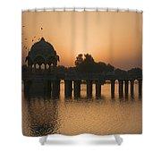 Skn 1368 Sunrise Flight Shower Curtain