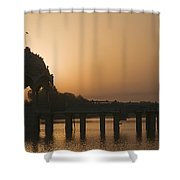Skn 1383 The Morning Glow  Shower Curtain