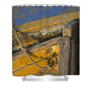 Skn 1394 Dilapidated Boats Shower Curtain