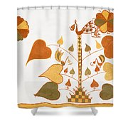 Skn 1399 Painting Media Shower Curtain
