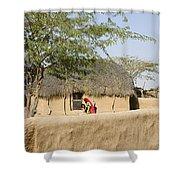 Skn 1401 Rural Background Shower Curtain