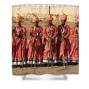 Skn 1508 Folk Dancers Shower Curtain