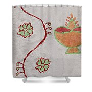 Skn 1658 Wall Drawing Shower Curtain