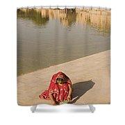 Skn 1696 Rangoli At Gadisar Shower Curtain