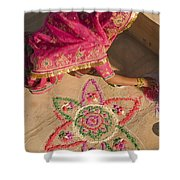 Skn 1707 Rangoli Designer Shower Curtain