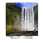 Skogarfoss Shower Curtain