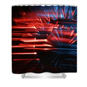 Skc 0272 Crystal Glass In Motion Shower Curtain