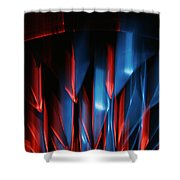 Skc 0276 Red And Blue Shower Curtain