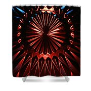 Skc 0285 Cut Glass Plate In Red And Blue Shower Curtain