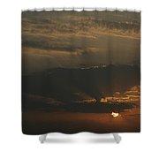 Skc 0320 Rising Rays Shower Curtain
