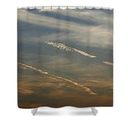 Skc 0365 Cloud Tracks Shower Curtain