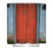 Skc 0401 Closed Red Door Shower Curtain