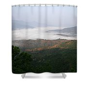 Skc 0757 Winter Valley Shower Curtain