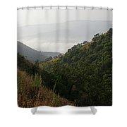 Skc 0763 Dry Green Landscape Shower Curtain