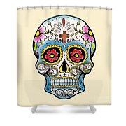 Skull 10 Shower Curtain