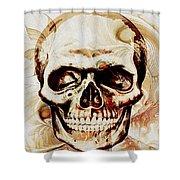 Skull Shower Curtain by Anastasiya Malakhova