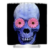 Skull Art - Day Of The Dead 1 Shower Curtain