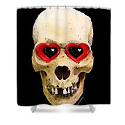 Skull Art - Day Of The Dead 2 Shower Curtain by Sharon Cummings