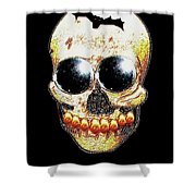 Skull Art In A Surrealism Definition Shower Curtain