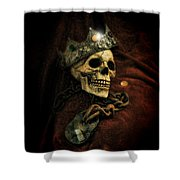 Skull In Crown Shower Curtain