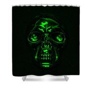 Skull In Green Shower Curtain