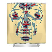 Skull In Negative Hope Shower Curtain