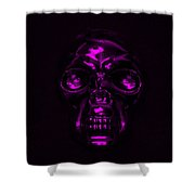 Skull In Purple Shower Curtain