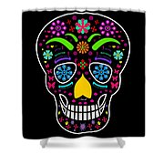 Skull Shower Curtain by Mark Ashkenazi