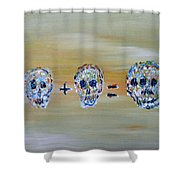 Skull Mathematics Shower Curtain