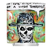 Skull Quoting Oscar Wilde.1 Shower Curtain