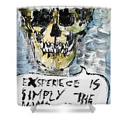 Skull Quoting Oscar Wilde.4 Shower Curtain