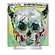 Skull Quoting Oscar Wilde.8 Shower Curtain