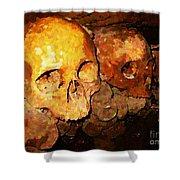 Skulls In The Paris Catacombs Shower Curtain