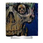 Vampire Skull Shower Curtain