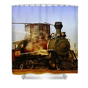 Skunk Train Shower Curtain