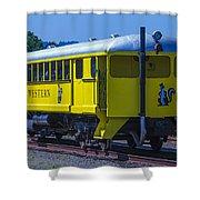 Skunk Train Passenger Car Shower Curtain