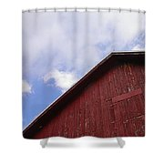 Sky And Barn Shower Curtain
