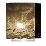 Sky And Wall Shower Curtain