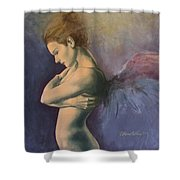 Sky Below Ground Shower Curtain