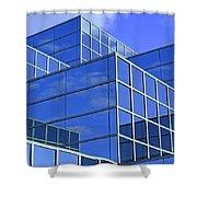 Sky Blue Mirror Shower Curtain