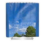 Sky Blue Summer Art Shower Curtain