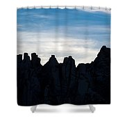 Sky Castles - The Mojave Shower Curtain