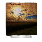 Farmland Sky Shower Curtain