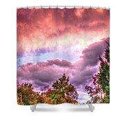 Sky Fire 2 Shower Curtain