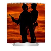 Sky Fire - 73rd Ny Infantry Fourth Excelsior Second Fire Zouaves-b1 Sunrise Autumn Gettysburg Shower Curtain